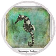 Horse Of The Sea Round Beach Towel