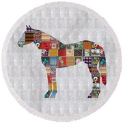Horse Showcasing Navinjoshi Gallery Art Icons Buy Faa Products Or Download For Self Printing  Navin  Round Beach Towel