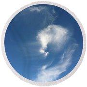 Horse Spirit Cloud Round Beach Towel