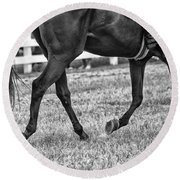 Horse Stepping Round Beach Towel