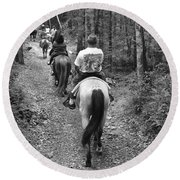 Horse Trail Round Beach Towel