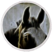 Horse Whispers Round Beach Towel