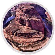 Horsehoe Bend On The Colorado River Round Beach Towel