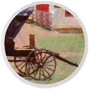 Horseless Carriage Round Beach Towel by Jeff Kolker