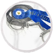 Horseless Rider Round Beach Towel