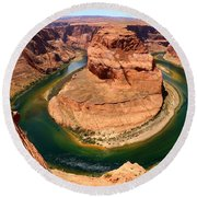 Horseshoe Bend - Nature's Awesome Work Round Beach Towel
