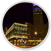 Horseshoe Casino Cleveland Round Beach Towel