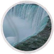 Horseshoe Falls Ice Formations Round Beach Towel