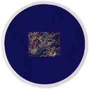 Host Of Angels By Jrr Round Beach Towel