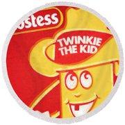 Hostess Twinkie The Kid Round Beach Towel by Tony Rubino
