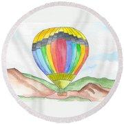 Hot Air Balloon 03 Round Beach Towel