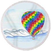 Hot Air Balloon 04 Round Beach Towel