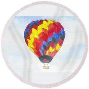 Hot Air Balloon 05 Round Beach Towel