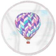 Hot Air Balloon 06 Round Beach Towel