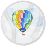 Hot Air Balloon 08 Round Beach Towel