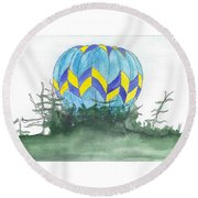 Hot Air Balloon 09 Round Beach Towel