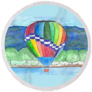 Hot Air Balloon 11 Round Beach Towel