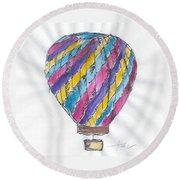 Hot Air Balloon Misc 02 Round Beach Towel