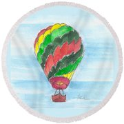 Hot Air Balloon Misc 03 Round Beach Towel