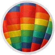 Hot Air Balloon Painterly Round Beach Towel