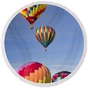 Hot Air Balloon Race Round Beach Towel