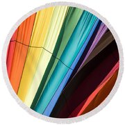 Hot Air Balloon Rainbow Round Beach Towel