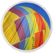 Hot Air Ballooning 2am-110966 Round Beach Towel