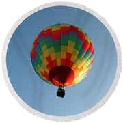 Hot-air Balloons Over Paradise - Immokalee 2014  Number 2  Round Beach Towel