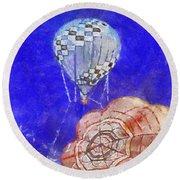Hot Air Balloons Photo Art 04 Round Beach Towel