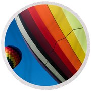 Hot Air Balloons Quechee Vermont Round Beach Towel
