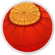 Hot Air Balloon At Dawn Round Beach Towel