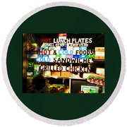 Hot And Cold Foods Round Beach Towel