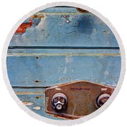 Hot And Cold Round Beach Towel by Heidi Smith