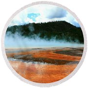 Hot And Steamy Round Beach Towel