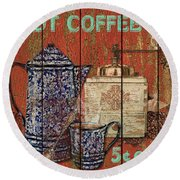 Hot Coffee Round Beach Towel