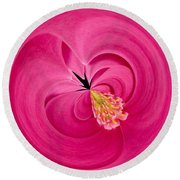 Hot Pink And Round Round Beach Towel by Anne Gilbert