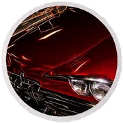 Hot Red Car  Round Beach Towel