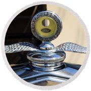 Hot Rod Car Instrument Detail Round Beach Towel
