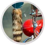 Hot Rod Coon's Tail Round Beach Towel