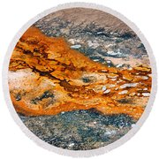 Hot Springs Mineral Flow Round Beach Towel
