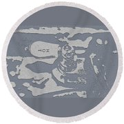 Hot Water Round Beach Towel