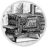 Hot Water Oven, 1875 Round Beach Towel
