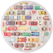 Hot Wheels Square Format Round Beach Towel