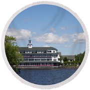 Hotel At Lake Winnipesaukee Round Beach Towel