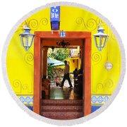 Hotel Estancia - Ajijic - Mexico Round Beach Towel