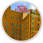 Hotel Floridan Round Beach Towel