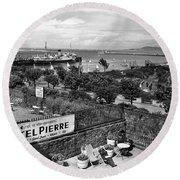 Hotel Pierre Dun Laoghaire 1958 Round Beach Towel