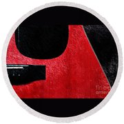 Hour Glass Guitar 4 Colors 1 - Tetraptych - Red Corner - Music - Abstract Round Beach Towel