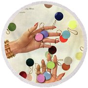 House & Garden Cover Of Woman's Hands With An Round Beach Towel