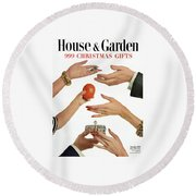 House And Garden 999 Christmas Gifts Cover Round Beach Towel